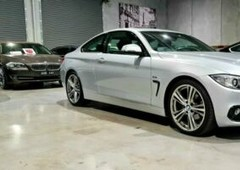 2014 bmw 4 series f32 420i sport line silver 8 speed sports automatic coupe